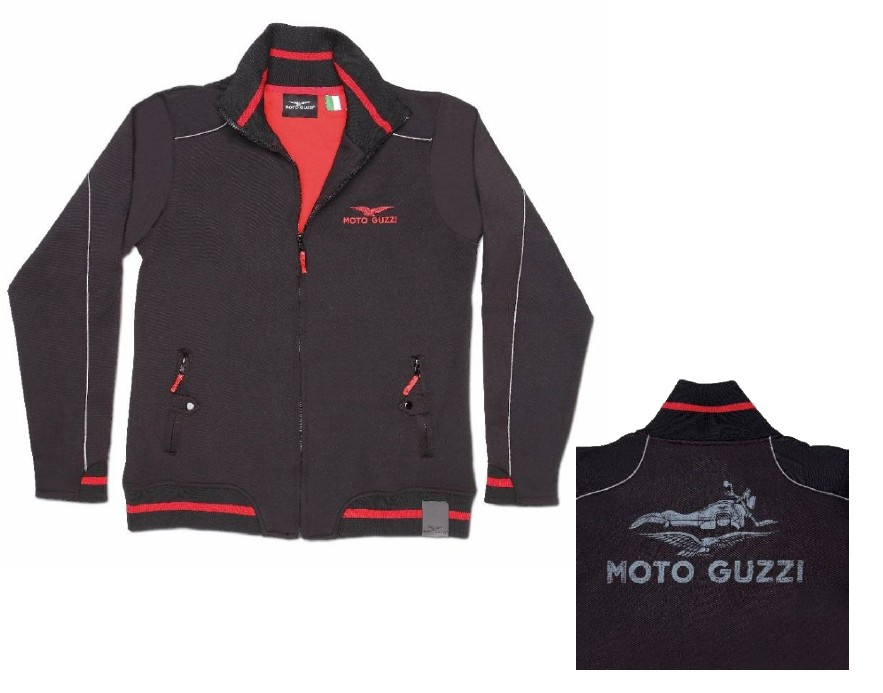 herren sweatshirt jacke moto guzzi. Black Bedroom Furniture Sets. Home Design Ideas