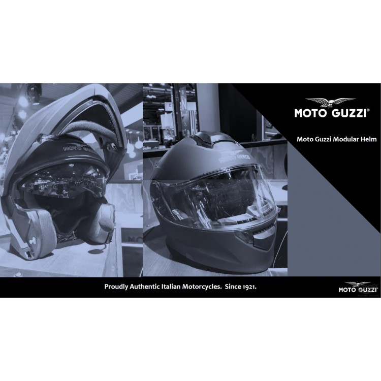 Helm Klapphelm Bluetooth Moto Guzzi